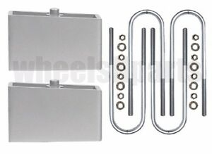 Ranger Lift Kit Rear 2 Aluminum Blocks U Bolts 1998 2011 Ford 4x4 4x2