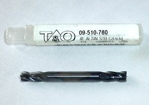 T o Stub Length Coated Double End Mill 4 Flute 1 4 09 510 760 Altin Carbide New