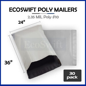 30 24 X 36 Large White Poly Mailers Shipping Envelopes Self Sealing Bags 2 35mil