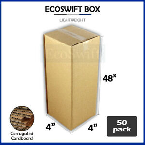 50 4x4x48 Cardboard Packing Mailing Tall Long Shipping Corrugated Box Cartons