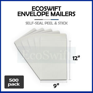 500 White Self seal Catalog Mailing Shipping Kraft Paper Envelope 28 Lb 9 X 12