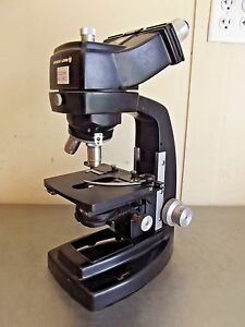 Bausch Lomb Binocular Microscope W 2 Objectives no Lamp m1558