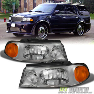1998 2002 Lincoln Navigator Replacement Headlights Headlamps 98 02 Left Right