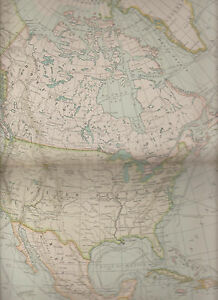 North America Century Atlas 1897 Antique Map 4 11 3 4 X 16