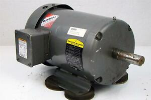 Baldor Electric Motor 5hp 230 460v 3 Phase 1750 Rpm 184t