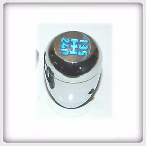 Manual Shift Knob Gear Knob Silver Blue Led Light 825b