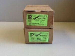 10 X 3 1 2 Flat Head Phillips Wood Screws 200 In Lot Nos