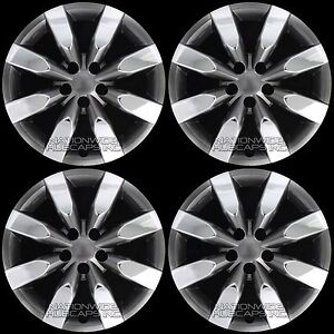4 Chrome Black 2009 2018 Corolla 16 Hub Caps Full Wheel Covers Fit Steel Rims