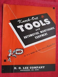 1945 Knock Out Tools Auto Shop Equipment K O Lee Co Aberdeen Sd Brochure