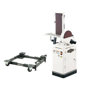 Shop Fox W1676 1 Hp 6 Belt 10 Disk Combination Sander With D2260a Mobile Base