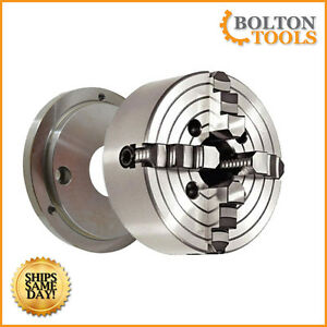 Bolton Tools 4 Jaw 8 Inch Chuck With Mounting Plate 4jcp8