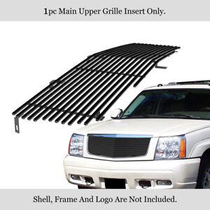 Fits 2002 2006 Cadillac Escalade Ext Esv Black Stainless Steel Billet Grille