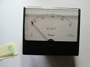 New In Box Simpson Analog Panel Meter 1x101 0 500 Ac 10350 ss5