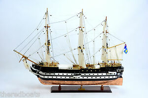 Hms Conway School Ship Copper Hull 38 Handcrafted Wooden Ship Model New
