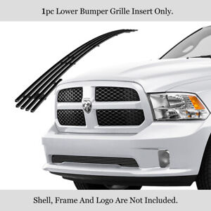Fits 2013 2018 Ram 1500 19 20 Classic Sport Lower Stainless Black Billet Grille