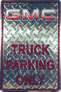 Chevy Gmc License Sign Metal Emblem Parking Plate Truck Chevrolet Silverado New