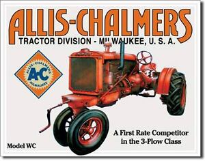 Vintage Replica Tin Metal Sign A C Allis Chalmers Model Tractor Equipment 1133