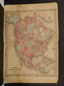 Johnson S Maps 1864 North America O3 99