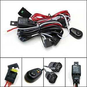 5202 Psx24w Relay Harness Wire Kit Led On Off Switch For Fog Lights Hid Worklamp