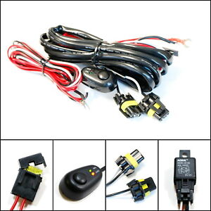 9005 9006 Relay Harness Wire Kit Led On Off Switch For Fog Lights Hid Worklamp