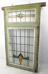 Large Vintage Stained Glass Window 2940 Nj