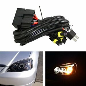 High Low Conversion Relay Wire Harness For H4 Headlamps To 9005 9006 Headlights