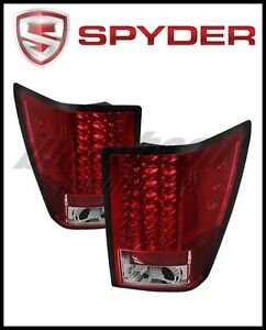 Spyder Jeep Grand Cherokee 07 10 Led Tail Lights Red Clear