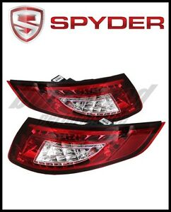 Spyder Porsche 997 05 08 Led Tail Lights Red Clear
