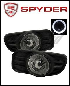Spyder Jeep Grand Cherokee 99 04 Halo Projector Fog Lights W Switch Smoke