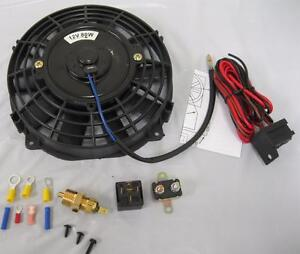 7 Inch Universal Electric Radiator Cooling Fan Thermostat Relay Install Kit