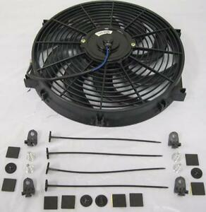 14 Universal Curved S blade Electric Radiator Cooling Fan W Mount Kit Hot Rod