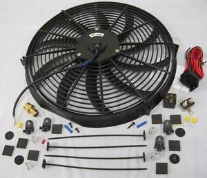 16 S Blade Heavy Duty Electric Radiator Cooling Fan Thermostat
