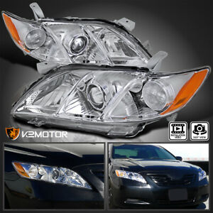 For Us Model 2007 2009 Toyota Camry Crystal Projector Headlights Left right
