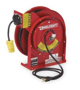 Retractable Cord Reel With 50 Ft Cord 1 outlet 16 3 Reelcraft L 4050 163 3sb 1