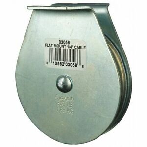 Zoro Select 4jx77 Pulley Block Wire Rope 1 4 In Max Cable Size 800 Lb Max
