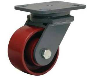 Plate Caster swivel cast Iron 4 In 1000 Lb b S wh 4mb
