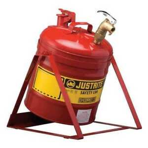 Type I Faucet Safety Can 5 Gal red Justrite 7150156