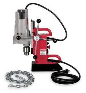 Magnetic Drill Press 350rpm 3 4 In Steel Milwaukee 4210 1