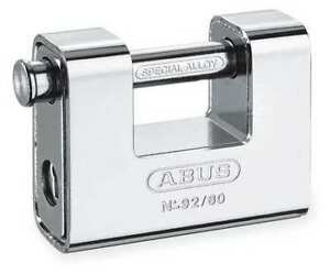 Abus 92 80 Kd U shaped Keyed Padlock 9 16 In H kd
