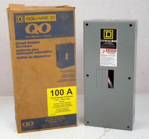 Square D Circuit Breaker Enclosure 120 240v 1ph 3w 100a Q02100bn