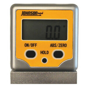 Digital Angle Finder magnetic v groove Johnson 1886 0300