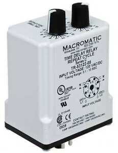 Time Delay Relay 120vac dc 10a dpdt Macromatic Tr 55122 05