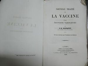 Rare Medical Book Vaccine Smallpox Bousquet 1848 French First Edition