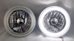 97 16 Jeep Wrangler Tj Jk 7 White Led Ccfl Halo Round Chrome Clear Headlights