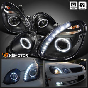 For 1998 2005 Lexus Gs300 Gs400 Jdm Black Projector Headlights smd Led