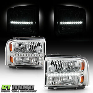 2005 2006 2007 Ford F250 F350 F450 Superduty Sd Led Headlights 05 07 Headlamps