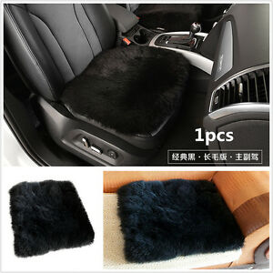 1 Car Genuine Sheepskin Long Wool Seat Cushion Cover Breathable Warm Chair Pad