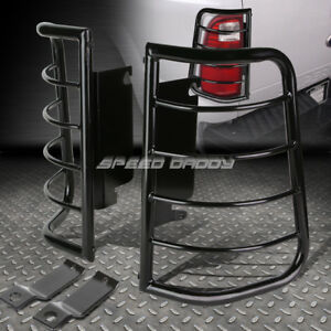 For 99 07 Ford Superduty Black Stainless Steel Tail Brake Light Lamp Cage Guard