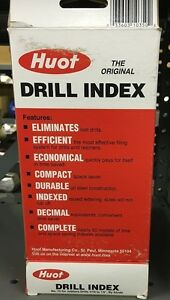 Huot Edp 10350 Drill Index Us Size Fractional W several Bits New