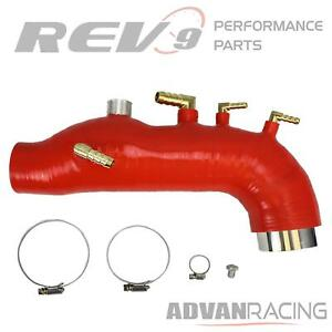 Rev9 Sh 003 red 1 Silicone Turbo Inlet Hose Red Fits Subaru Impreza Wrx 200